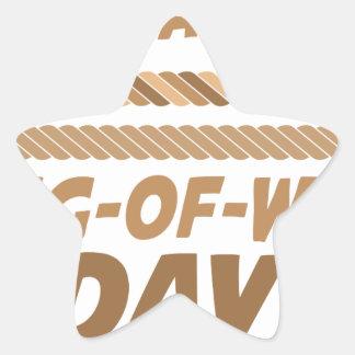 19th February - International Tug-of-War Day Star Sticker