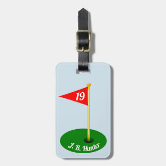 19th Hole and Your Name Luggage Tag