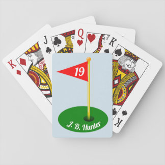19th Hole and Your Name Playing Cards