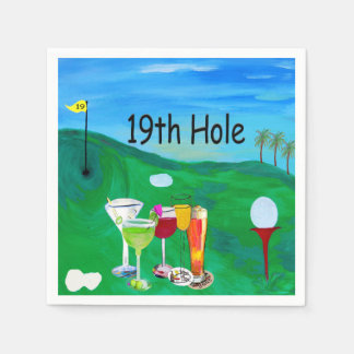 19th hole Golf napkins Disposable Napkin