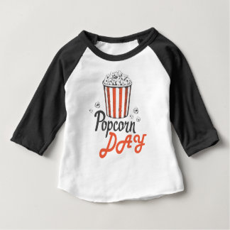 19th January - Popcorn Day - Appreciation Day Baby T-Shirt