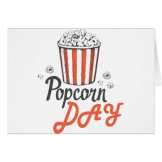 19th January - Popcorn Day - Appreciation Day Card