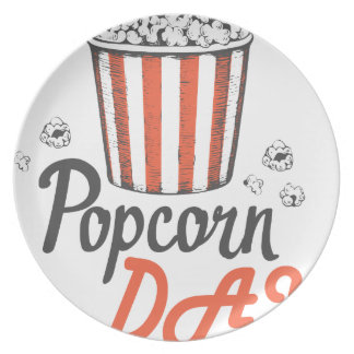 19th January - Popcorn Day - Appreciation Day Party Plate