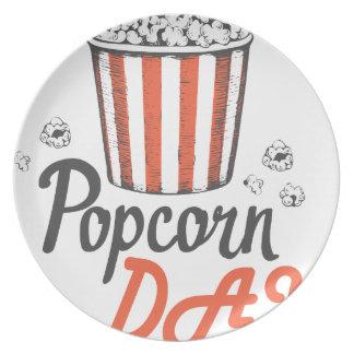 19th January - Popcorn Day - Appreciation Day Plate