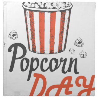 19th January - Popcorn Day - Appreciation Day Printed Napkins