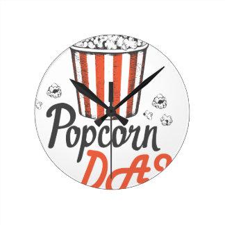 19th January - Popcorn Day - Appreciation Day Round Clock