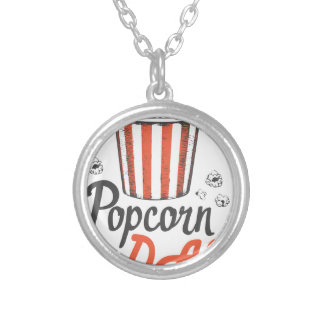 19th January - Popcorn Day - Appreciation Day Silver Plated Necklace