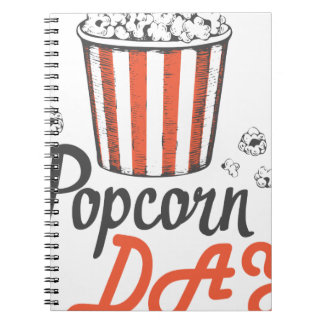 19th January - Popcorn Day - Appreciation Day Spiral Note Books