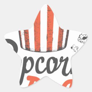 19th January - Popcorn Day - Appreciation Day Star Sticker