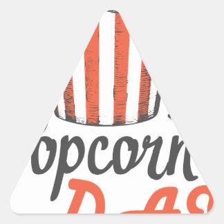 19th January - Popcorn Day - Appreciation Day Triangle Sticker