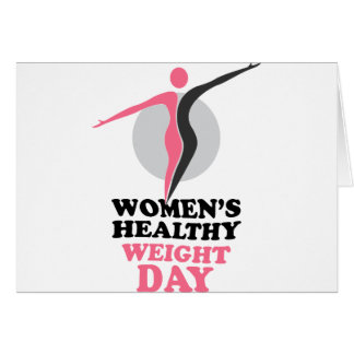 19th January - Women's Healthy Weight Day Card