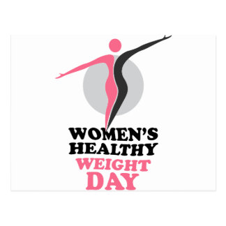 19th January - Women's Healthy Weight Day Postcard