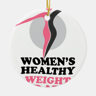 19th January - Women's Healthy Weight Day Round Ceramic Ornament