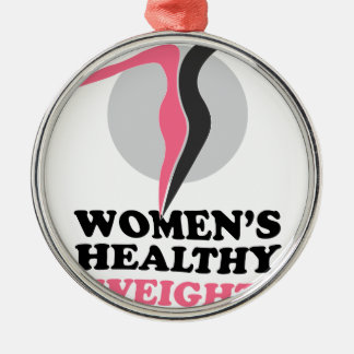 19th January - Women's Healthy Weight Day Silver-Colored Round Ornament
