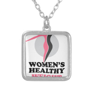 19th January - Women's Healthy Weight Day Silver Plated Necklace