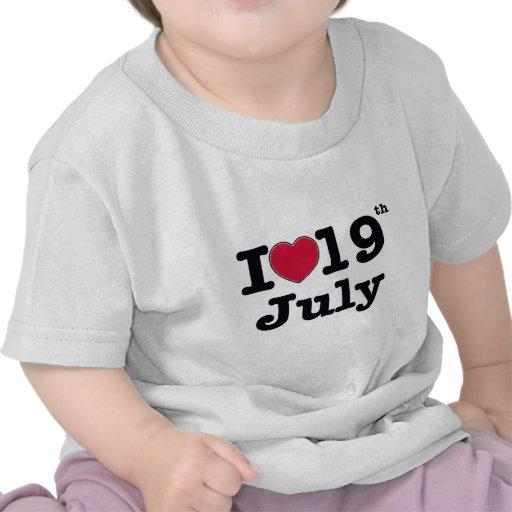 19th july my day of birthday t shirt