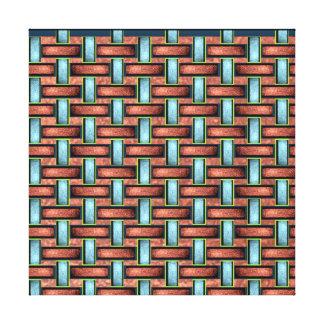 19th Pattern; Custom Basket Weave (Color) Canvas Print