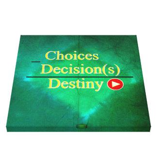 19th Quote; Destiny Equation Canvas Print