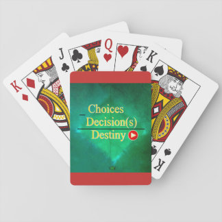 19th Quote; Destiny Equation Playing Cards