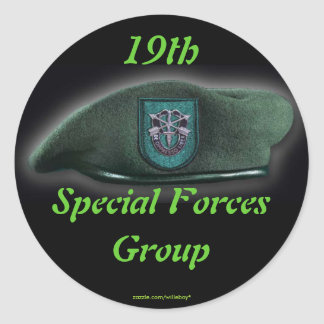 19th Special forces Green Berets flash nam Sticker