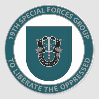 19th Special Forces Group Round Sticker