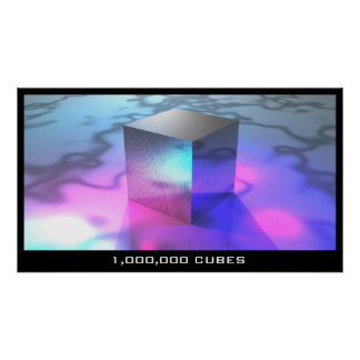 1,000,000 Cubes Poster