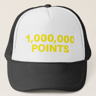 1,000,000 POINTS funny slogan trucker hat