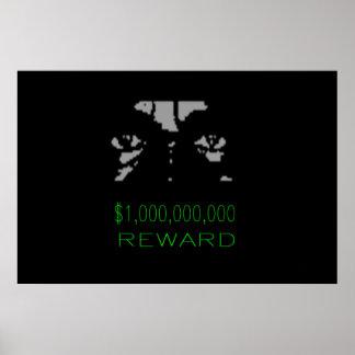 1 000 000 Reward Posters
