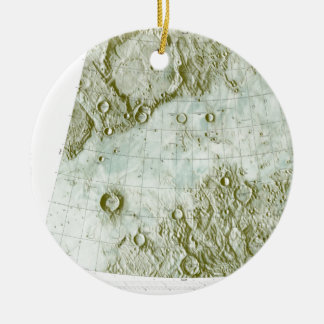 1:000 000 scale lunar chart ceramic ornament