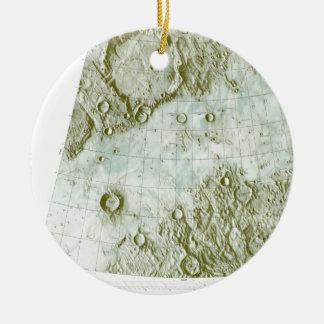 1:000 000 scale lunar chart round ceramic ornament