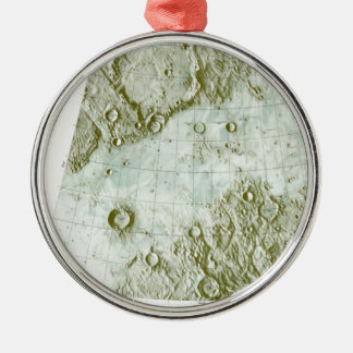 1:000 000 scale lunar chart Silver-Colored round ornament