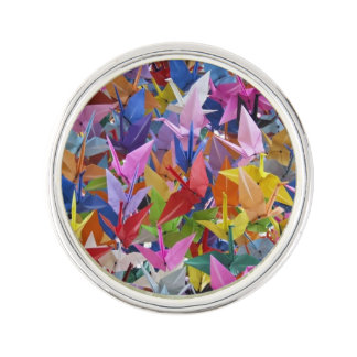 1,000 Origami Paper Cranes Photo Lapel Pin