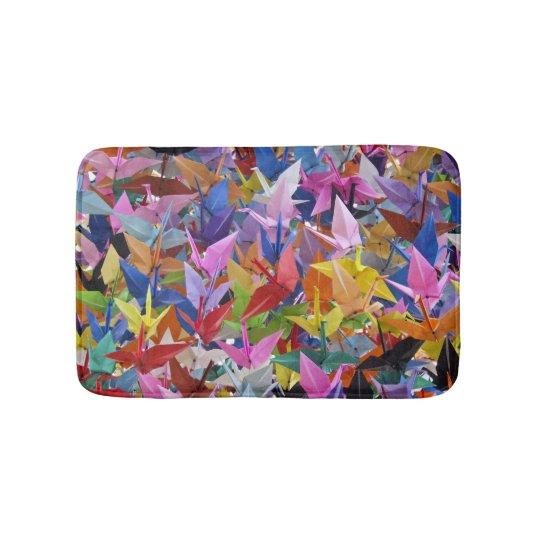 1,000 Origami Paper Cranes Small Bath Mat