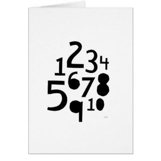 1-10 Numbers Card- Blank Card
