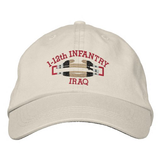 1-12th Inf. Iraq Combat Infantryman Badge Hat Embroidered Baseball Caps