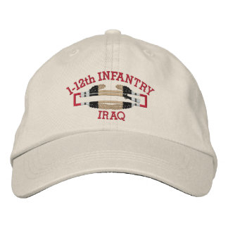 1-12th Inf. Iraq Combat Infantryman Badge Hat Embroidered Baseball Cap