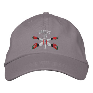 1-17th Cavalry Afghanistan Crossed Sabers Hat Embroidered Baseball Cap