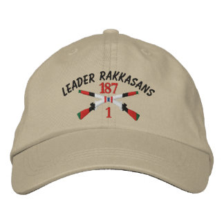 1-187th Infantry Afghanistan Crossed Rifles Embroidered Baseball Cap