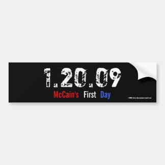 1.20.09 - McCain's First Day Bumper Sticker