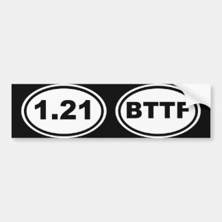 1.21 Gigawatts?! (Extra Oblique Edition) Bumper Sticker