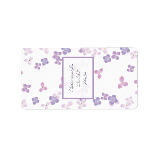 """1.25""""x2.75"""" Hersheys Miniature Purple Hydrangea Label"""