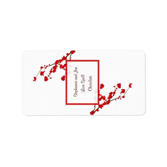 """1.25""""x2.75"""" Hersheys Miniature Red Cherry Blossom"""