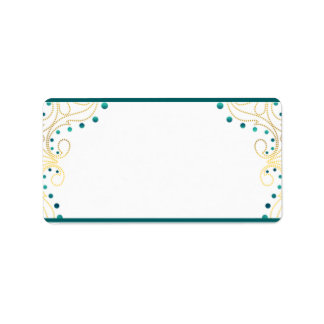 "1.25"" x2.75"" Mailing Address Arabian Teal Label"