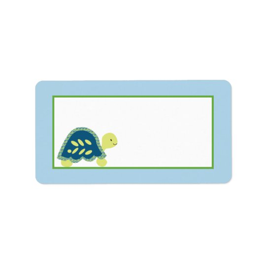 "1.25""x2.75"" Mailing Address Blue Sea Turtles Label"