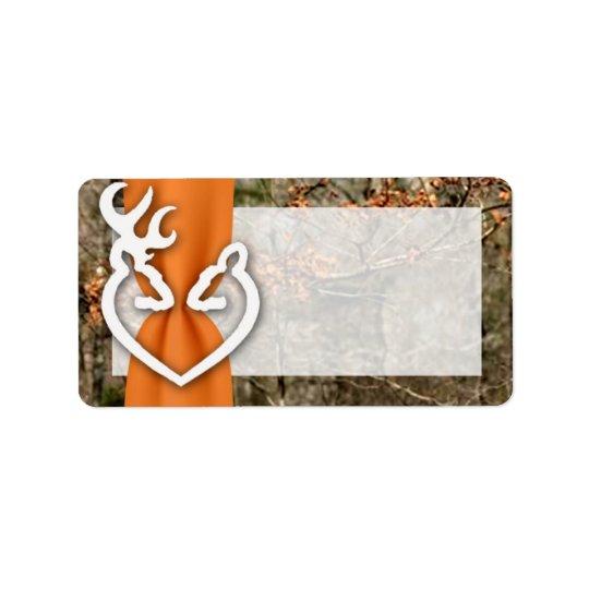"1.25""x2.75"" Mailing Address Deer Couple Doe Buck Label"