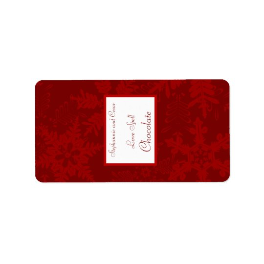 """1.25"""" x 2.75"""" Hershey's Miniature Christmas Red Label"""