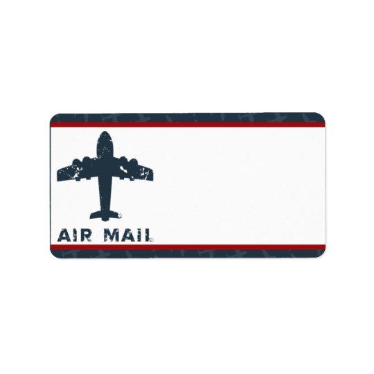 "1.25"" x 2.75"" Mailing Address Airplane Flight  Blu"