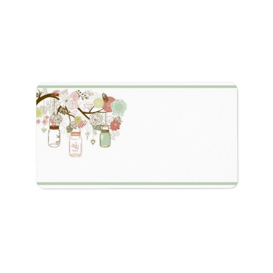 "1.25"" x 2.75"" Mailing Address Spring Floral Mason Label"