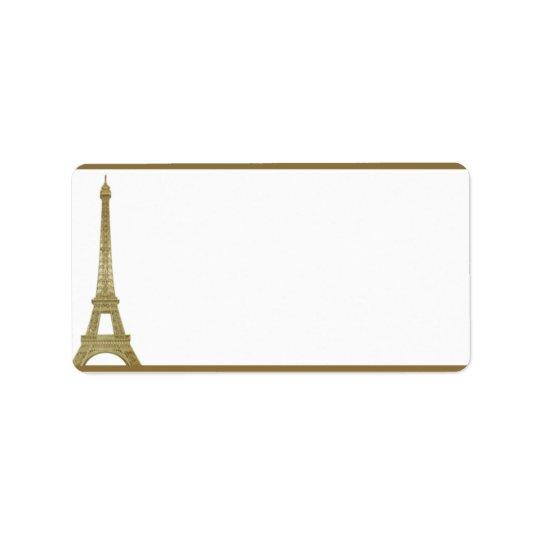 """1.25"""" x 2.75"""" Mailing Address Vintage Paris Label"""