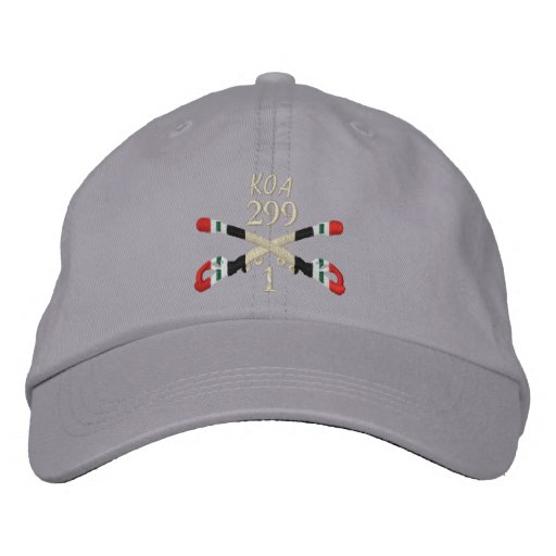 1-299th Cavalry Iraq Crossed Sabers Hat Embroidered Baseball Cap
